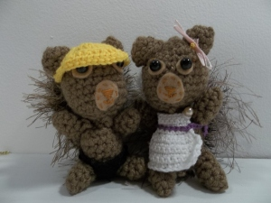 Grace's squirrels named Andy and Liv