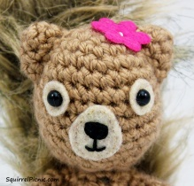 The pattern even includes a detailed tutorial to help you embroider the face on your squirrel friend.