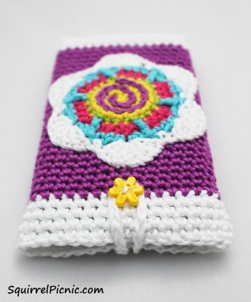Choose a colorful button to provide an easy closure to your Seed Packet Phone Case.