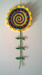 Tall 'n' Fast Flower Wall Hanging by Tajana