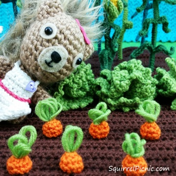 """I can't wait to pull these carrots up,"" Podge says. ""They look just about ready to me."""