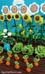 Podge's garden from The Big Acorn Race by Jennifer Olivarez