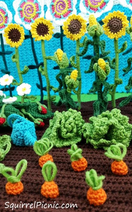 Podge's garden from The Big Acorn Race by Jennifer Olivarez