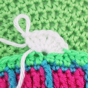 Crochet over the tail
